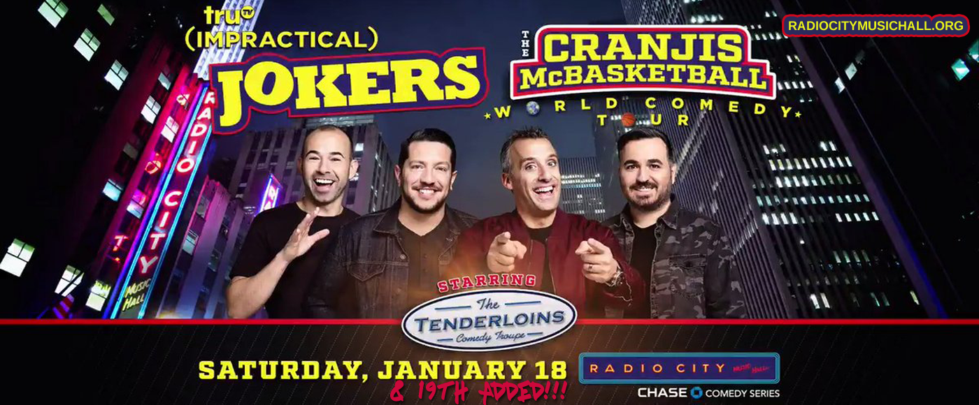 Impractical Jokers Tour 2020.Impractical Jokers Live Tickets 19th January Radio City
