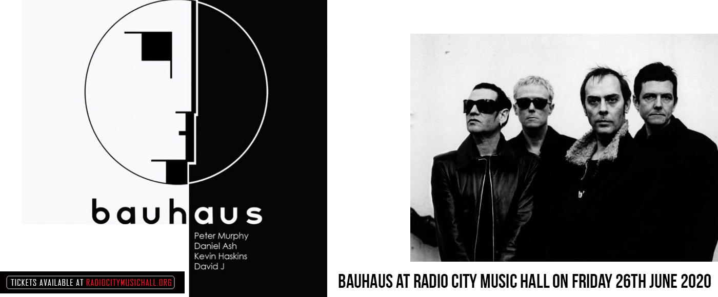 Bauhaus at Radio City Music Hall