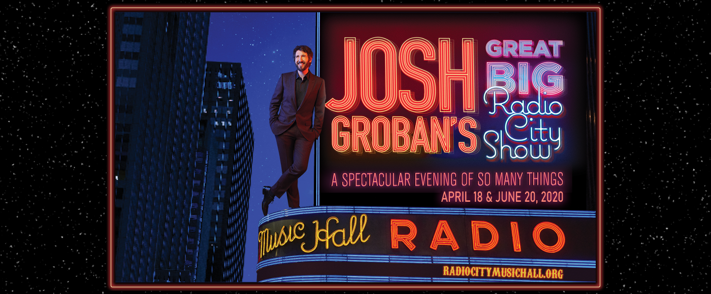 Josh Groban at Radio City Music Hall