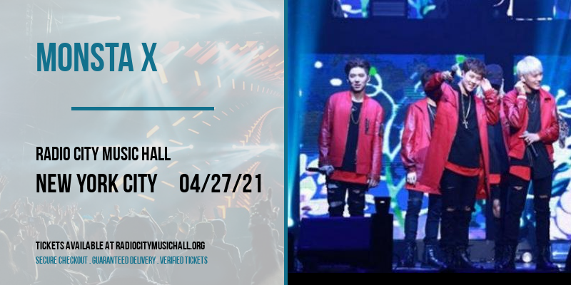 Monsta X [CANCELLED] at Radio City Music Hall