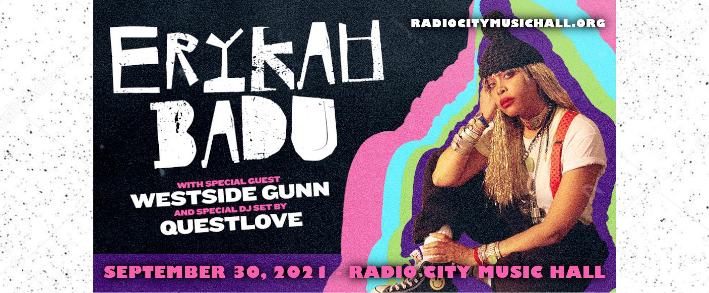 Erykah Badu at Radio City Music Hall