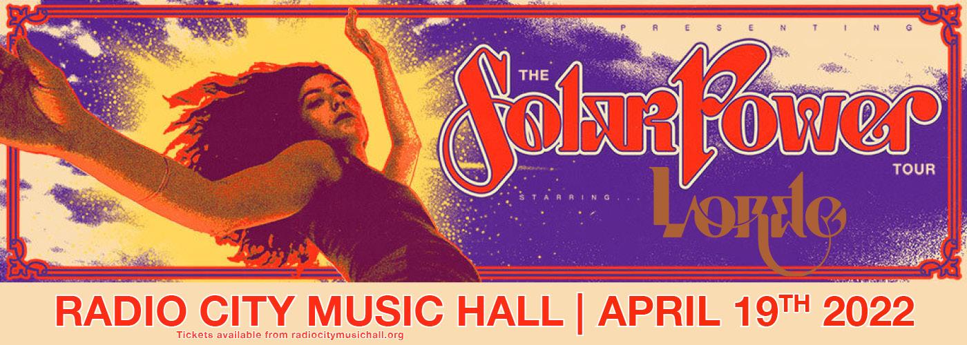 Lorde: Solar Power Tour at Radio City Music Hall