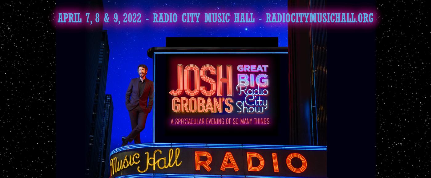Josh Groban at Radio City Music Hall