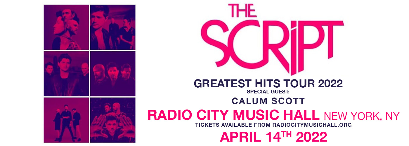 The Script: Greatest Hits Tour 2022 at Radio City Music Hall