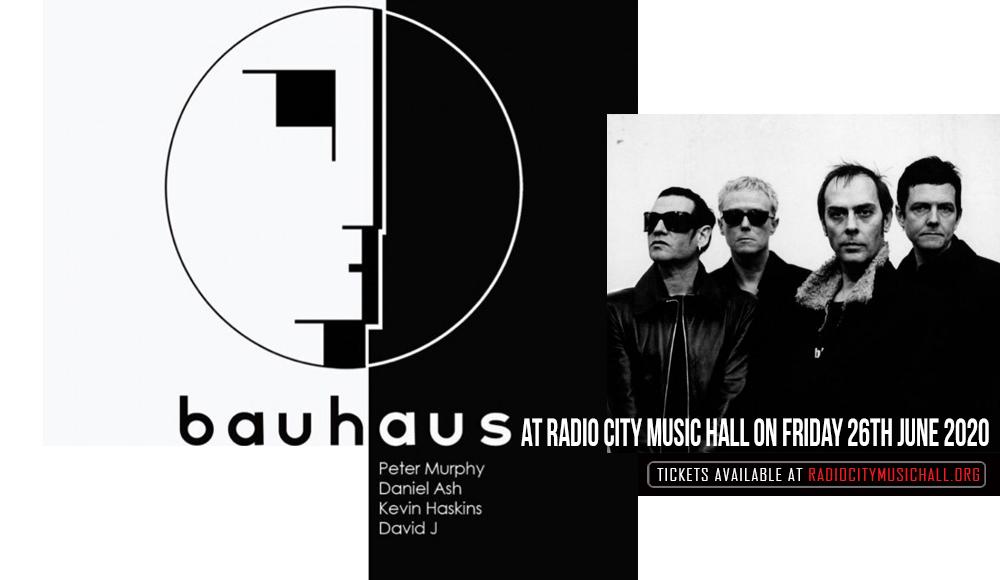 Bauhaus at Radio City Music Hall