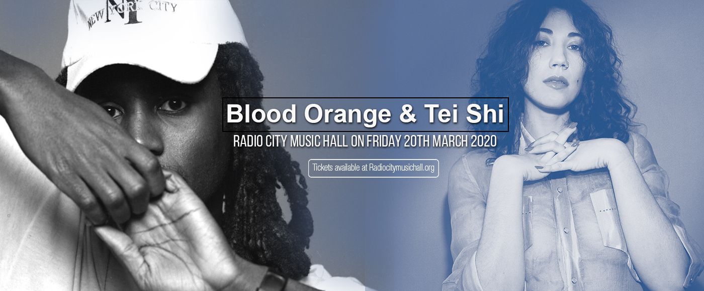 Blood Orange & Tei Shi at Radio City Music Hall
